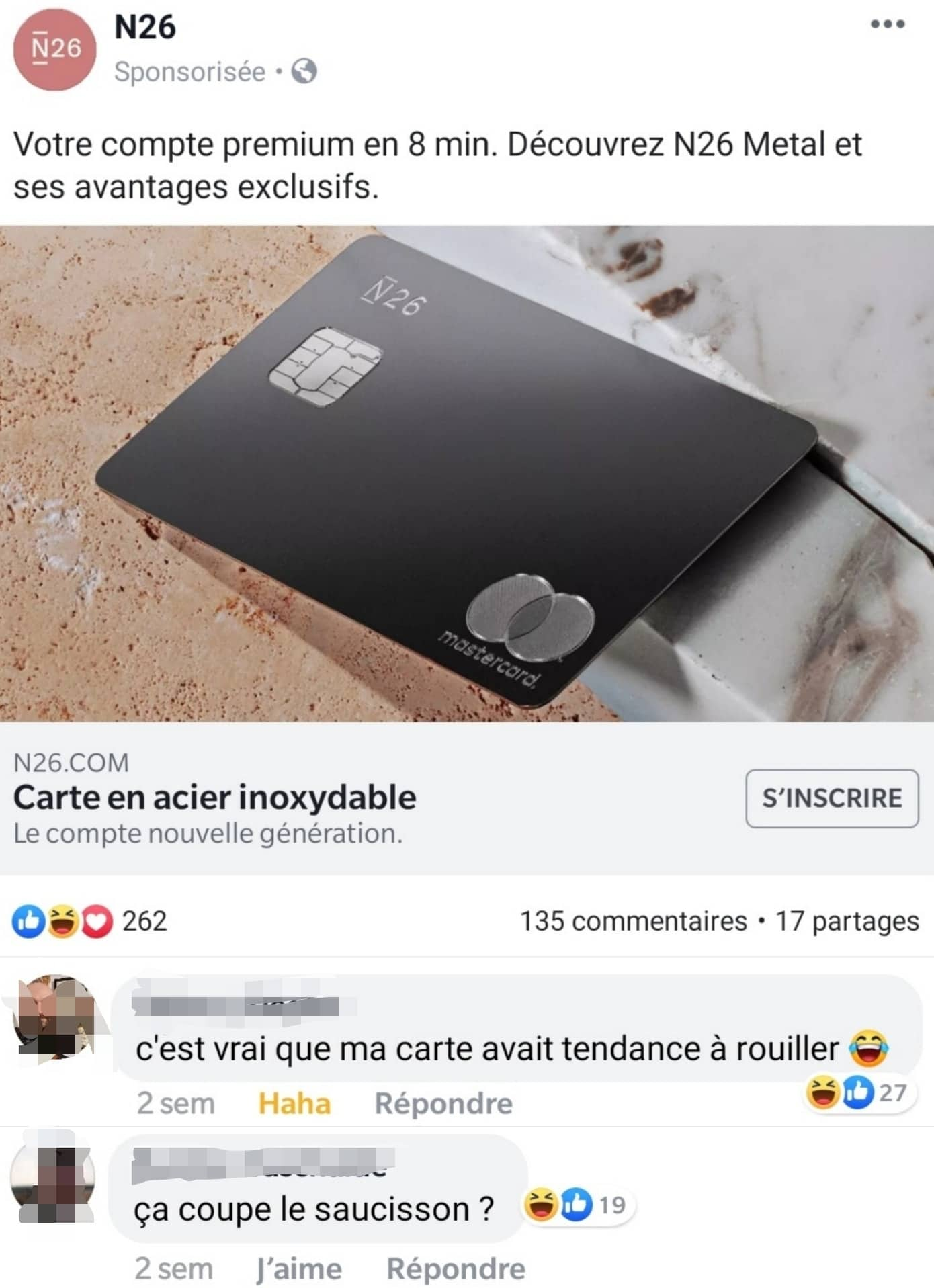 commentaire facebook ad