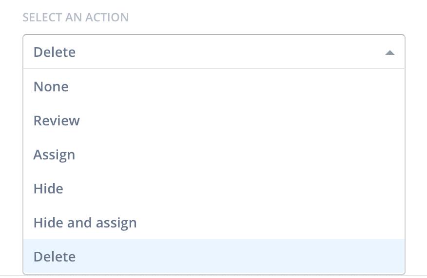 modération spam