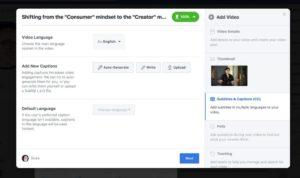 Etape 4 pour ajouter des sous-titres aux vidéos Facebook
