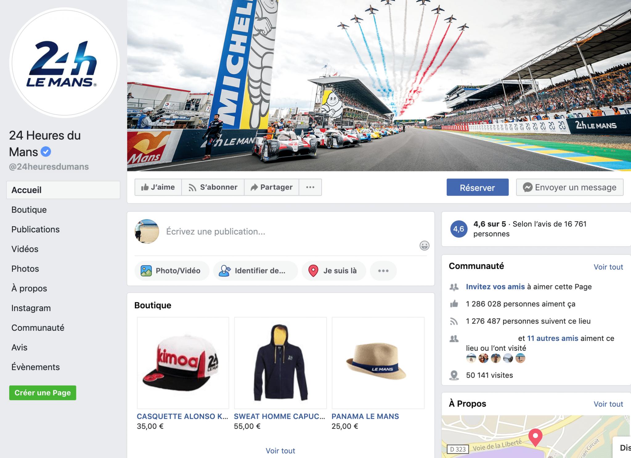 page facebook ACO