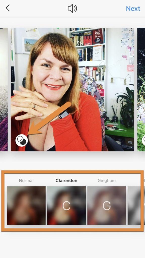 ajouter des filtres sur un Carrousel Instagram