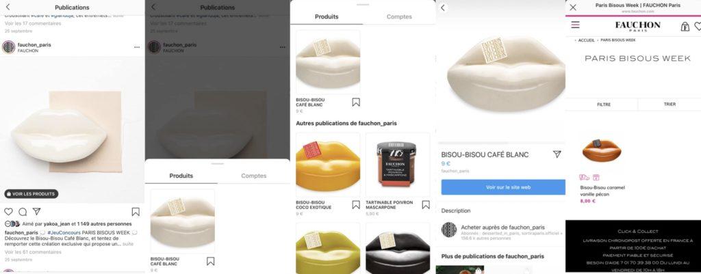 Aperçu du tag shopping pour les utilisateurs Instagram
