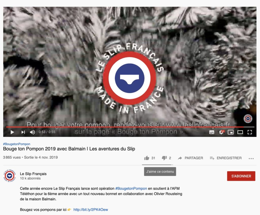 aperçu de la vidéo #BougetonPompom du Slip Français