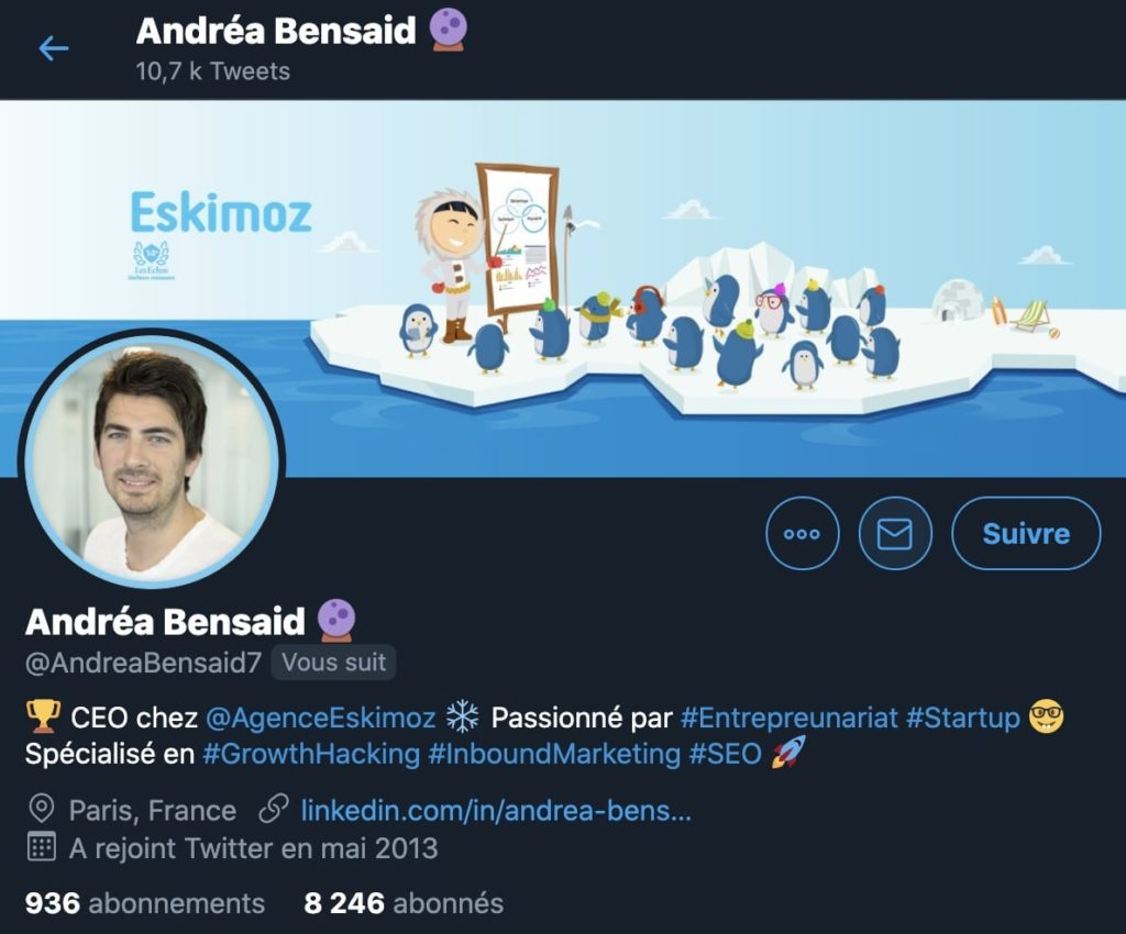 exemple d'une photo de profil sur Twitter