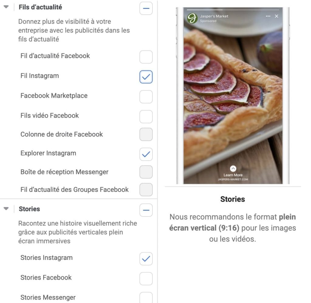 aperçu du Business Manager pour faire de la publicité sur Instagram