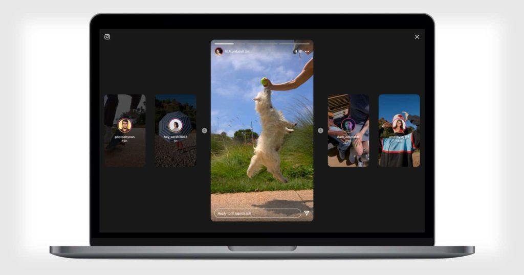 une nouvelle interface pour les stories instagram sur desktop