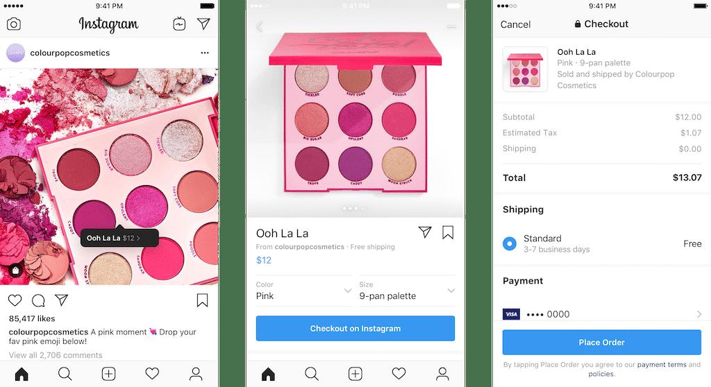 fonctionnement d'Instagram Checkout