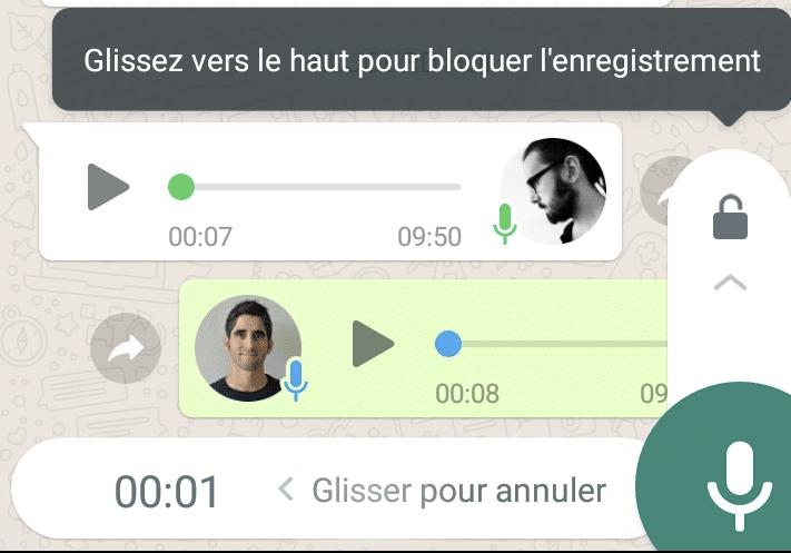 message audio whatsapp