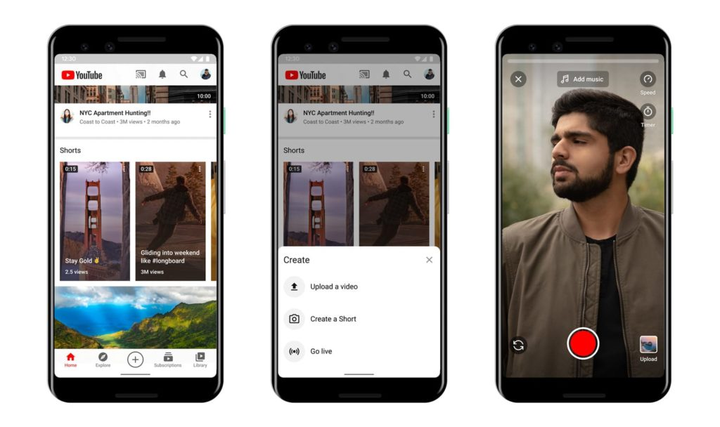 youtube shorts, l'alternative à TikTok