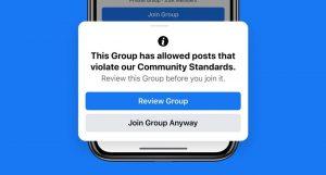 Facebook modération groupes