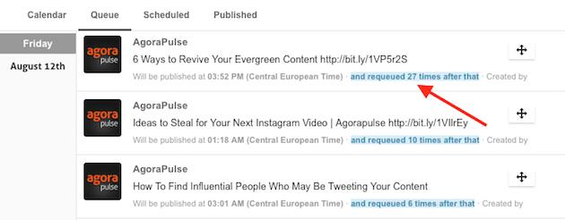 Re-publication de contenus via agorapulse