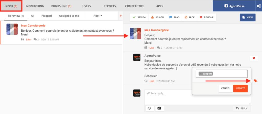 Assigner un tag aux contenus de vos utilisateurs