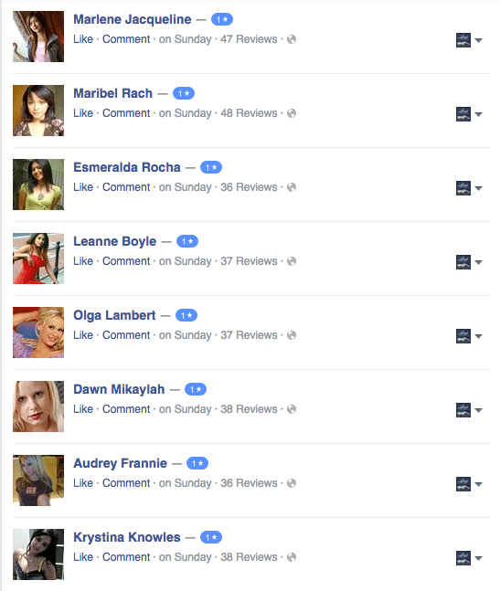 1 star facebook reviews