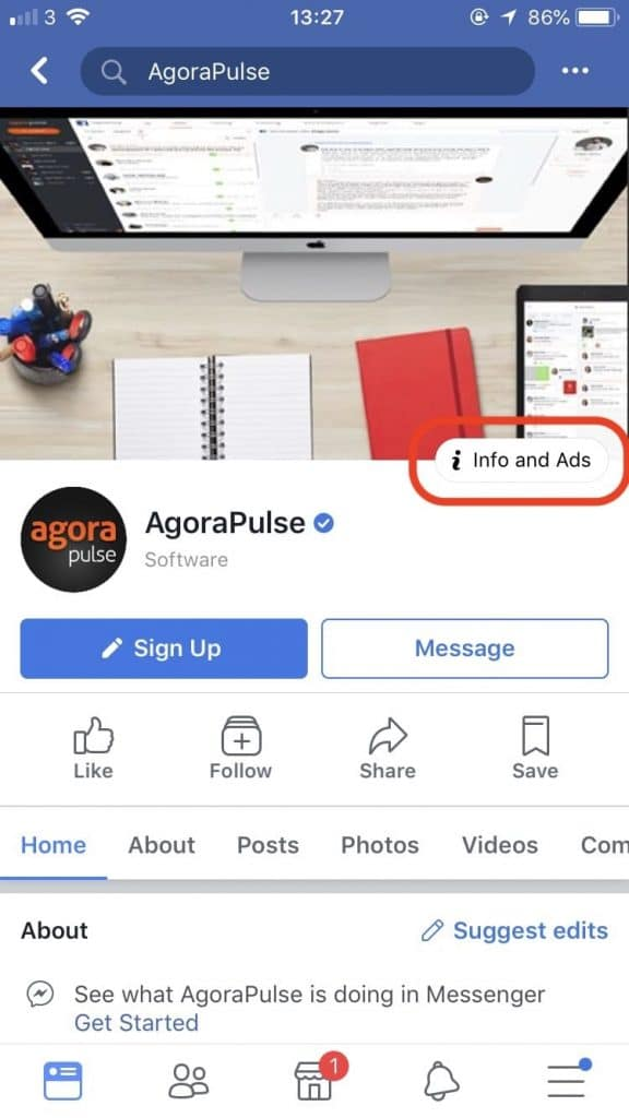 Ad Transparency Mobile View