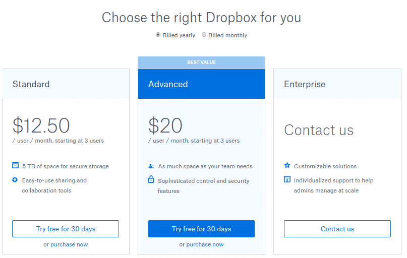 dropbox for working from home