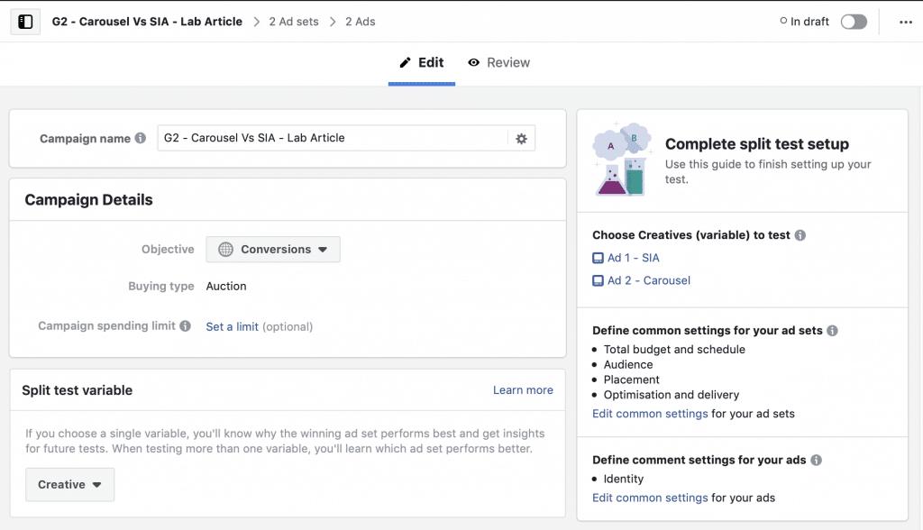 Carousel vs Single Image Ads