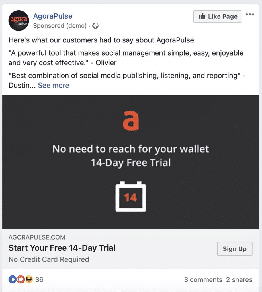 single image ad