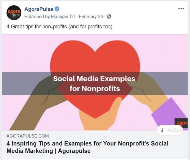 example of a short social media post