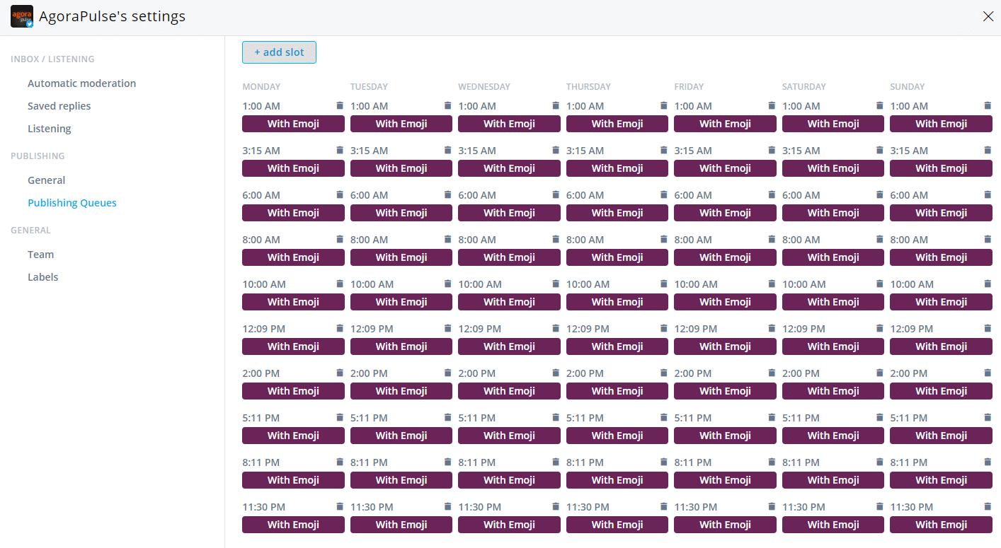 emoji test schedule