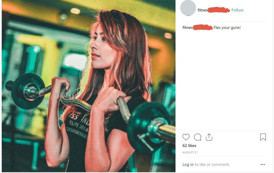 fitness of instagram