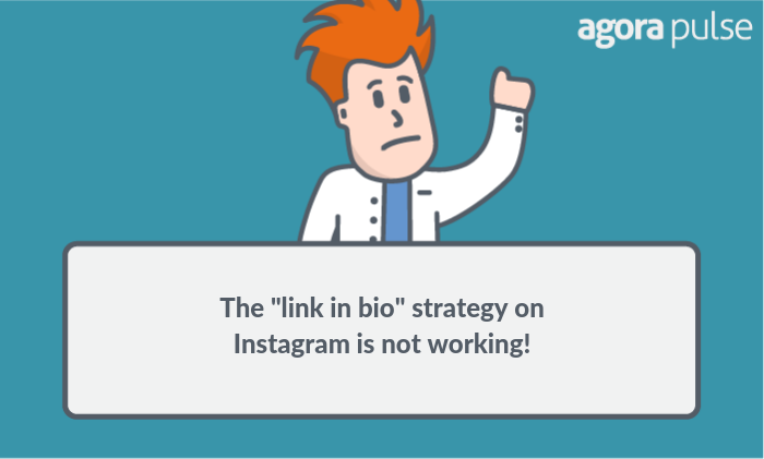 the link in bio strategy on Instagram is not working