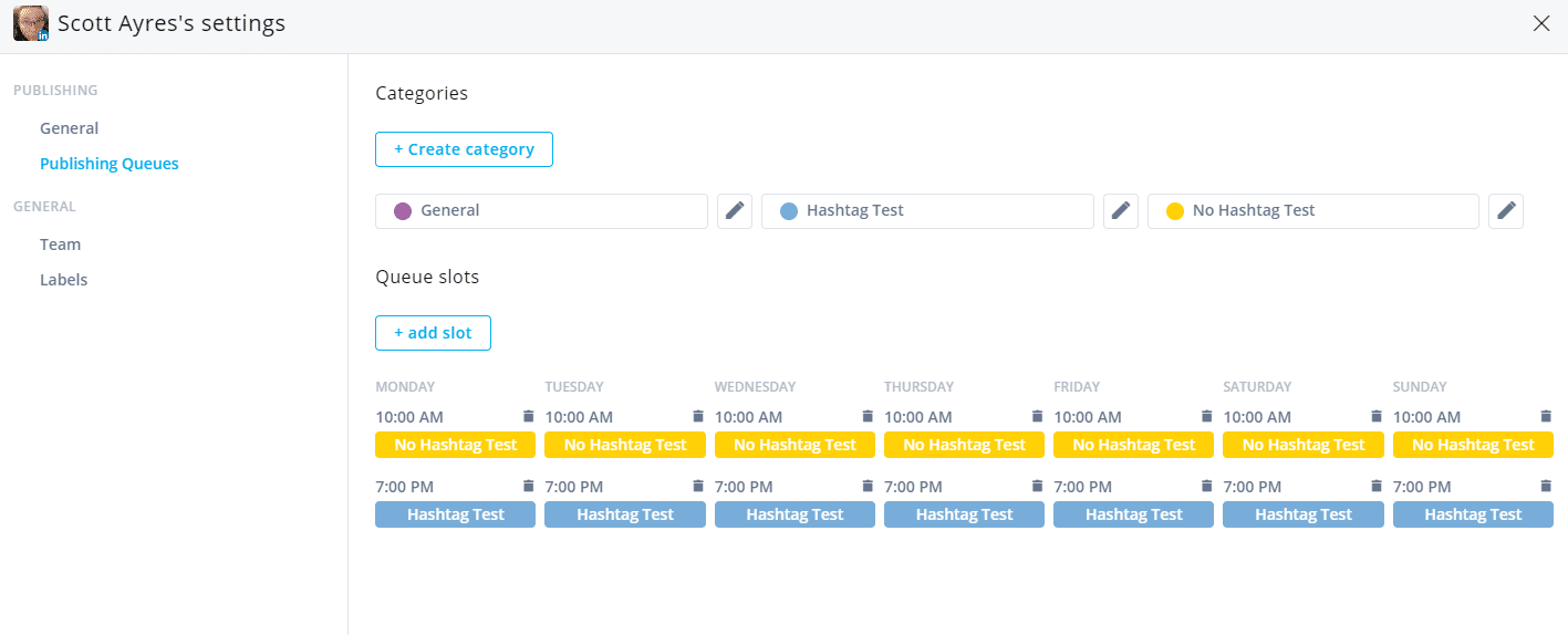 linkedin hashtag test schedule