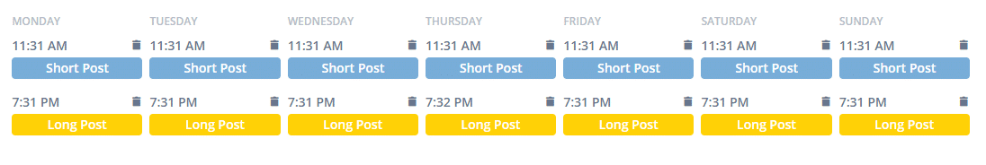 linkedin post schedule