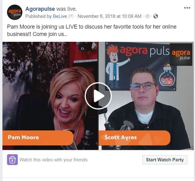 facebook live pam moore