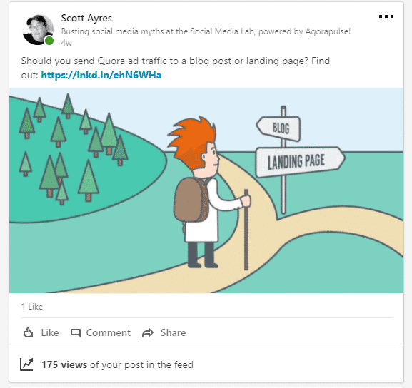 scott ayres linkedin post types