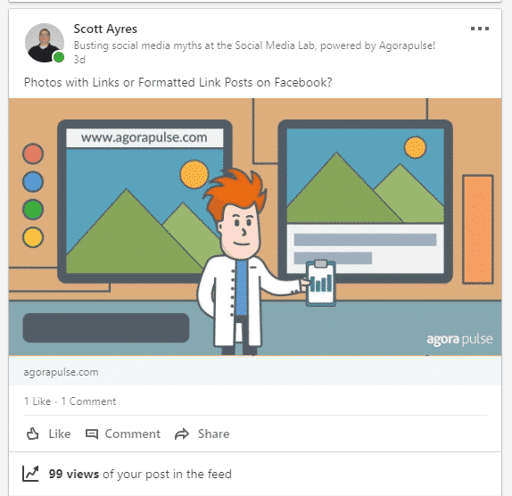 scottayres linkedin post without hashtags example