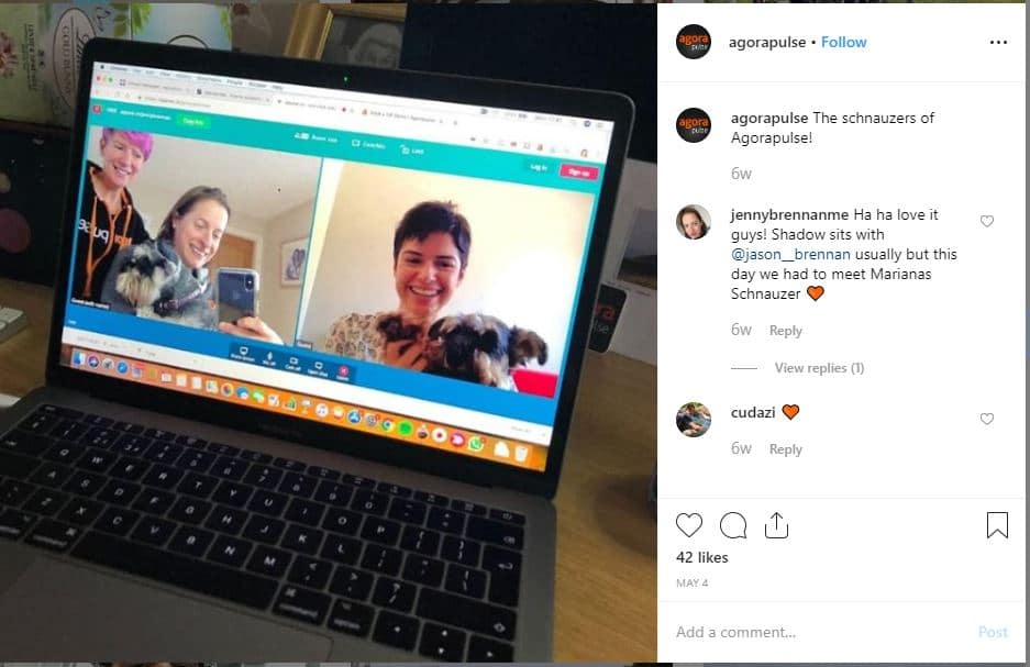 short Instagram post