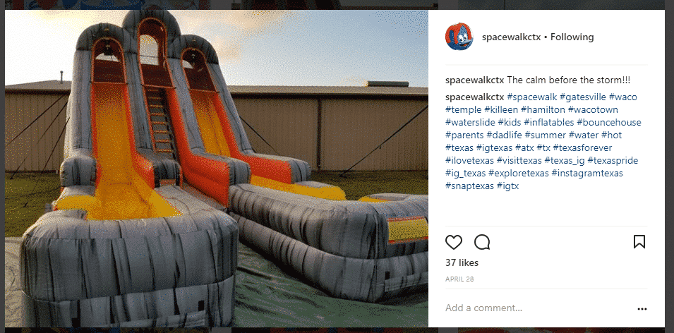 spacewalkctx Instagram hashtags in post