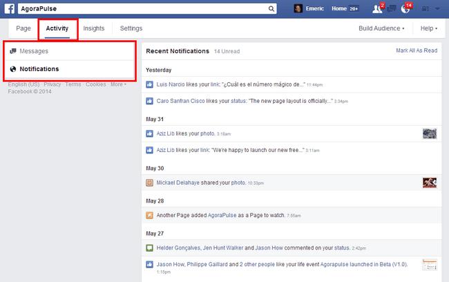 Notificaciones de Facebook