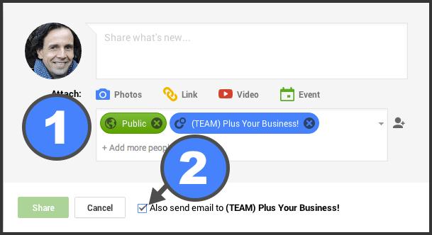 Lista de e-mails usando Google +
