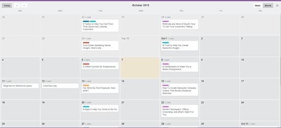 Trello board calendar