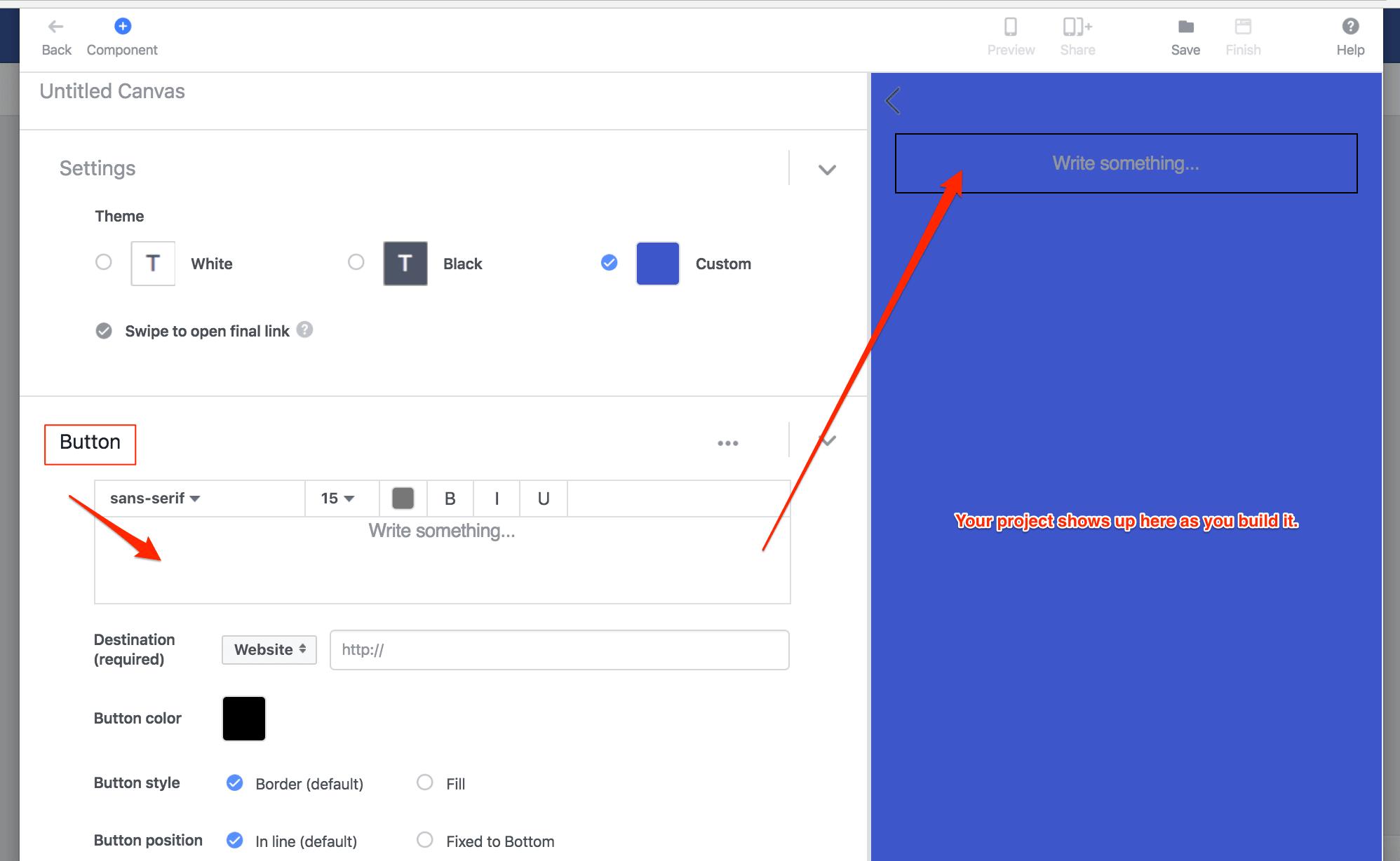 Adding a Button in Facebook Canvas
