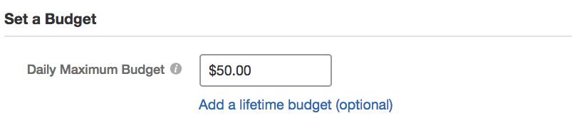 quora maximum budget