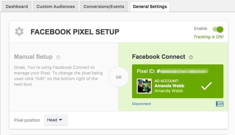Give Pixel Caffeine access to your Facebook account