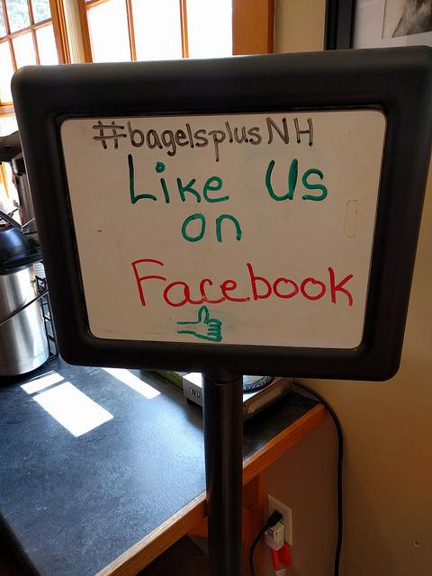 social media signage