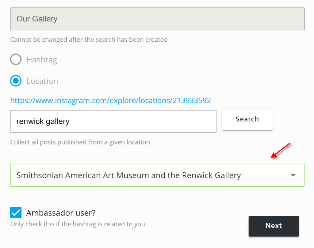 instagram geolocation search