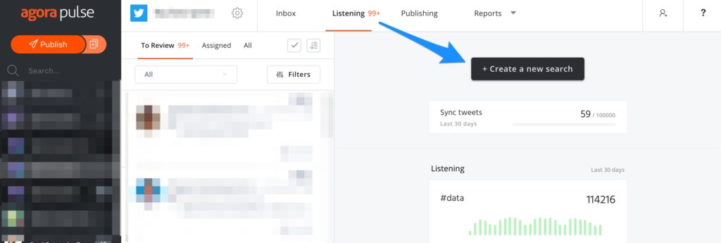 Twitter listening-- an Agorapulse feature