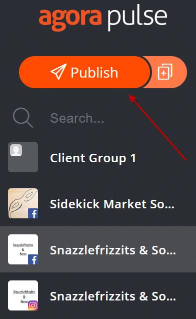publish instagram video button