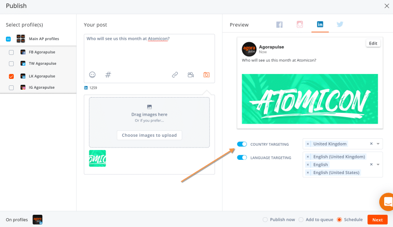 linkedin post targeting