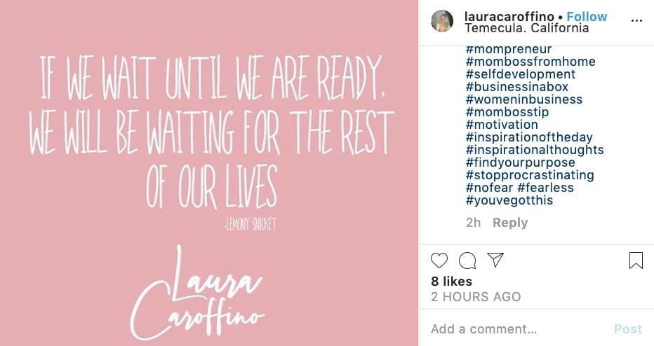 motivational posts on instagram