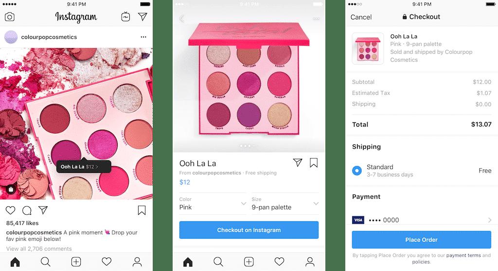 Instagram teste sa propre solution de paiement, Checkout